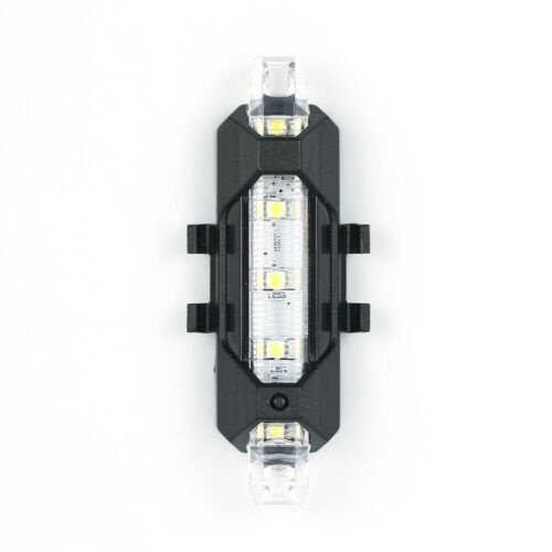 5LED USB Rechargeable Bike Bicycle Light Rear Back Safety Tail Light White New a