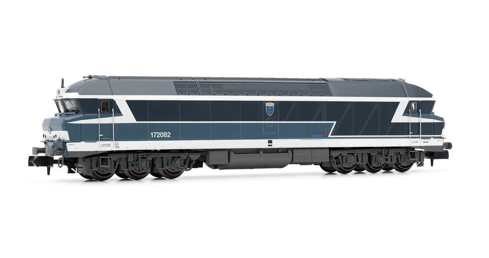 Arnold 1 160 HN2246 Locomotive diesel CC 72082 livrée bluee sigle casquette