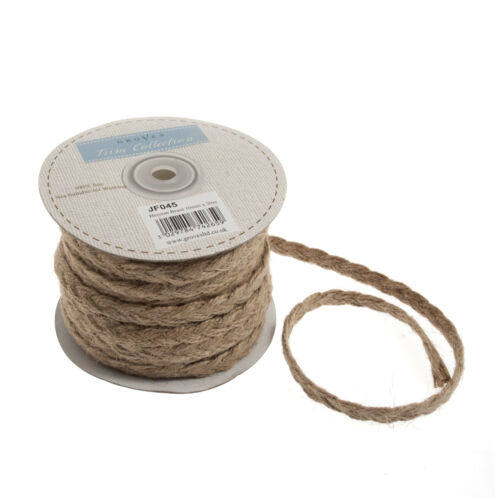 20x Hessian Plait Trim 20mx10mm Natural Sewing Craft Tool Hobby Art UK