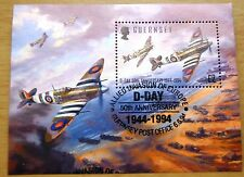 D-Day 50th Anniversary Guernsey 1994 Stamp Sheet VFU With Special Postmark