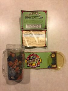 Vintage-JOE-CAMEL-Smooth-Character-Plastic-Mug-amp-Lid-Card-Players-1991-NEW
