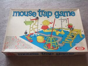 Collectable-amp-Vintage-1960s-MOUSE-TRAP-Original-Board-Game-Ideal-Complete-amp-Rare