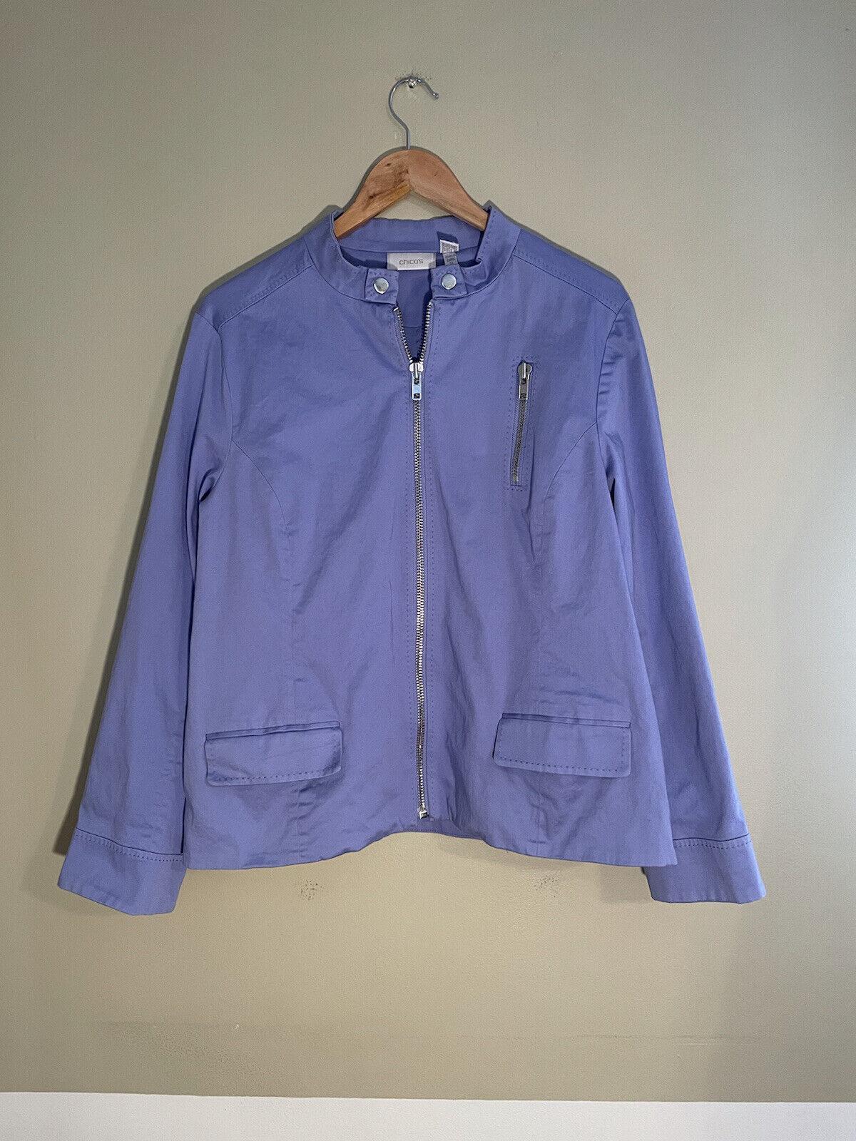Chicos Light Purple Blazer, 95% Cotton, Size XL (3)