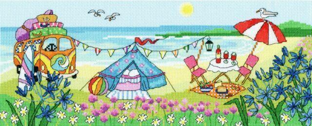 Bothy Threads Beach Huts Fun Cross Stitch Kit by Bothy Threads