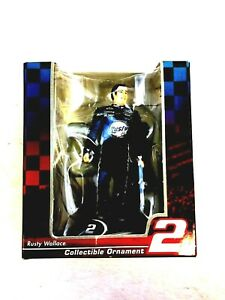 2004 Rusty Wallace Collectible Ornament NASCAR TREVCO NEW in Box #113b