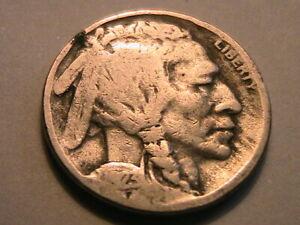 "1923-S Buffalo Nickel ""G"" Good Original Grey Toned Indian Head 5 Cent USA Coin"
