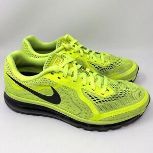Nike-Air-Max-621077-700-Running-Walking-Shoes-Black-Volt-Size-11