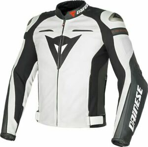 DAINESE-SUPER-SPEED-R-LEATHER-JACKET-MOTORBIKE-MOTORCYCLE-WHITE