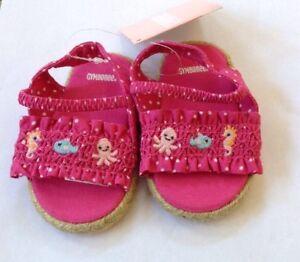 a00e379c9019c NWT Gymboree PINK Polka Dot Sea Life Spring Summer Sandals Shoes ...