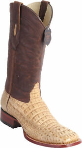 Los Ee Hornback Crocodile Square Western Genuine Honey Cowboylaars Caiman Altos SpVzUM