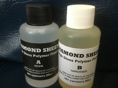 Diamond sheen rod  and whipping finish 2 part resin..