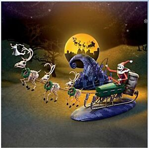 Nightmare before christmas 20th anniversary village sleigh set limited