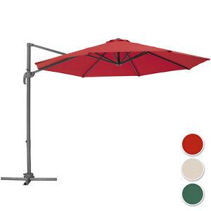 Alu-Sonnenschirm-UV50-Ampelschirm-Gartenschirm-Marktschirm-Balkonschirm-300cm