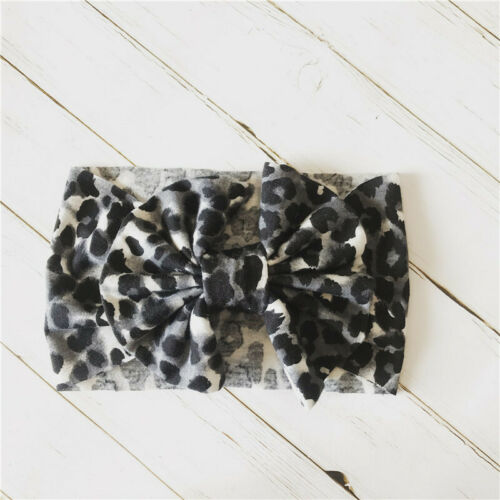 Baby Headband Bow Leopard Newborn Toddler Turban Unisex Baby Hair Accessories