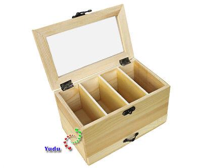 Nähkasten Kasten Aufbewahrungskasten Mit Durchsicht Deckel Schublade Naturholz Möbel & Wohnen