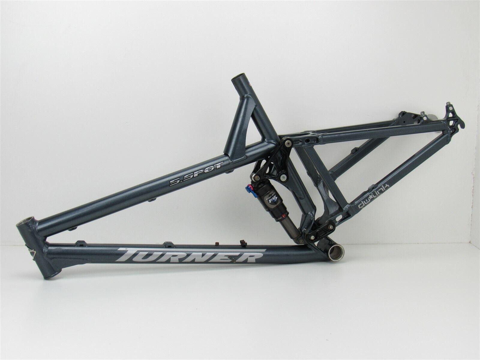 26 Turner 5 Spot sospensione completa telaio mountain bike, gree, 2009