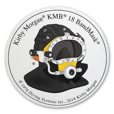 Kirby Morgan KM Diamond Circular Sticker