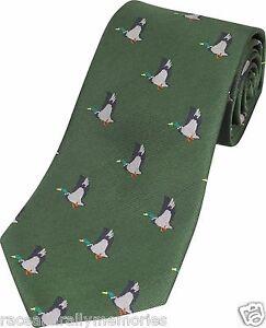 Volant-Canard-Motif-Leurre-Jeu-Chasse-Pays-Cravate-Cravate