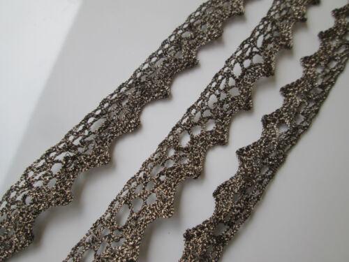 10 METER Grau braun  SPITZE Nichtelastisch Borte Lace 1.5cm breit MODE