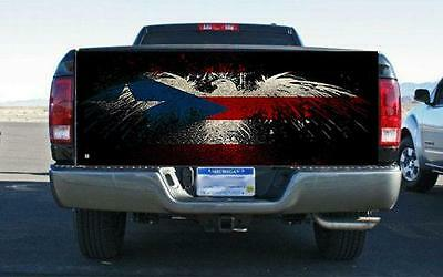 """1X American Flag Tailgate Wrap Vinyl Graphic Decal Truck Sticker 65.75/""""x 22.83/"""""""