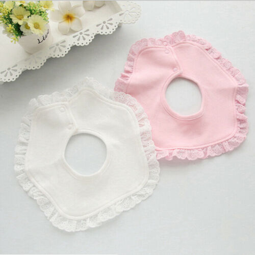 Multiple Styles Lovely Baby Bibs Burp Cotton Lace Bow Bib Girls Cute Bib CB