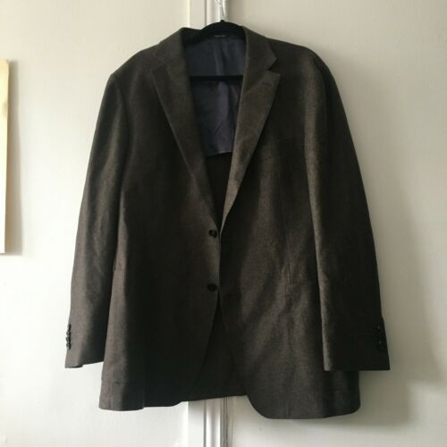 Suit Supply brown wool suit jacket 46L
