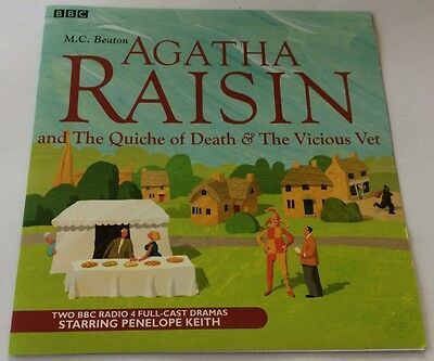 AGATHA RAISIN Quiche of Death +Vicious Vet 2-CD PENELOPE KEITH BBC Radio 4 Drama