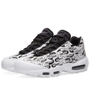 Nike Air Max 95 PRM White Black All Over Print Size 11. 538416-103 90 97 98 1
