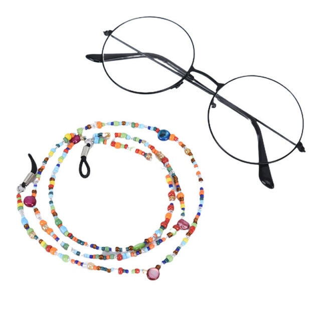 FashionColorful Pearl Beads Sunglasses Eyeglass Lanyard Cord Holder Chain StM*ac
