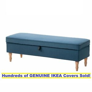Stupendous Details About Ikea Stocksund Bench Footstool Cover Slipcover Ljungen Blue New Sealed Dailytribune Chair Design For Home Dailytribuneorg