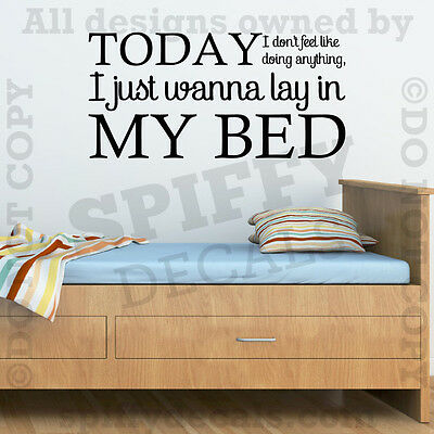 Bruno Mars The Lazy Song Lay In My Bed Quote Vinyl Wall Decal Decor Sticker Ebay