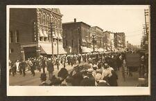 REAL-PHOTO POSTCARD:  PARADE ON STATE STREET - ERIE, PENNSYLVANIA - c.1910