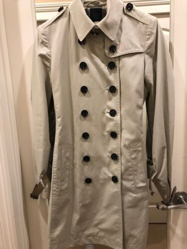 Burberry Brit Trench Coat Beige Belted Size 6