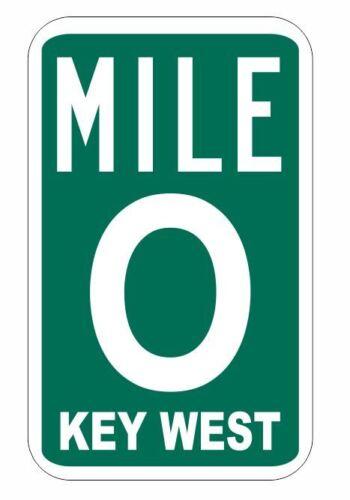 Mile Marker 0 Sticker Decal R1078 Key West Highway Sign YOU CHOOSE SIZE