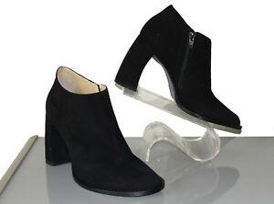 ** Ann Demeulemeester ** New! Sz 38 Black Suede Booties / Boots W/ Talon Heel by Ann Demeulemeester