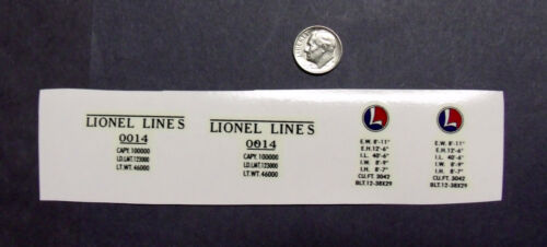 """Lionel Lines"" PreWar #0014 Yellow Boxcar Waterslide "" Double O"" Decal"