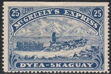 US Local #155L1 1898 25c McGreely?s Express Dog Sled Dyea to Skaguay Alaska