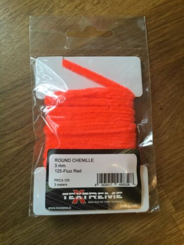 Textreme Round Chenille 2mm Fly Tying Material PRC2 3 Meter pack