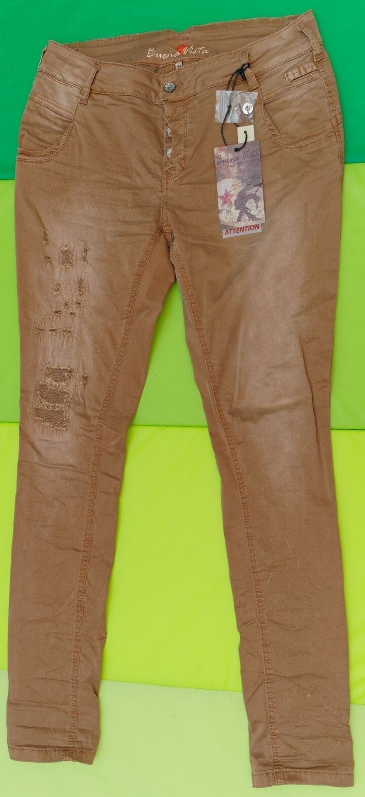 Buena Vista Jeans Bea Twill Gr S Stretch 702 camel hell braun used Look