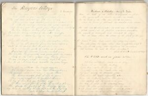 1848-50-Book-of-a-Young-Woman-s-Handwritten-Manuscript-Popular-Magazine-Poetry