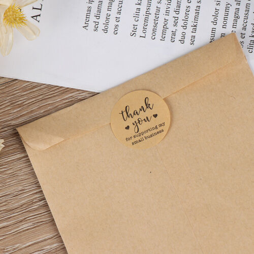 Kraft Paper Thank You for Supporting My Small Business Stickers label Sticker rp