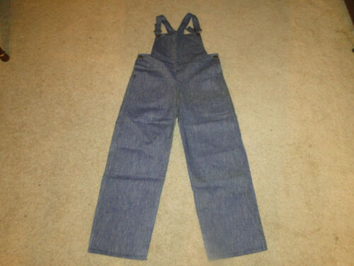 Deadstock Vintage 1930's chambray Denim Jeans Bib