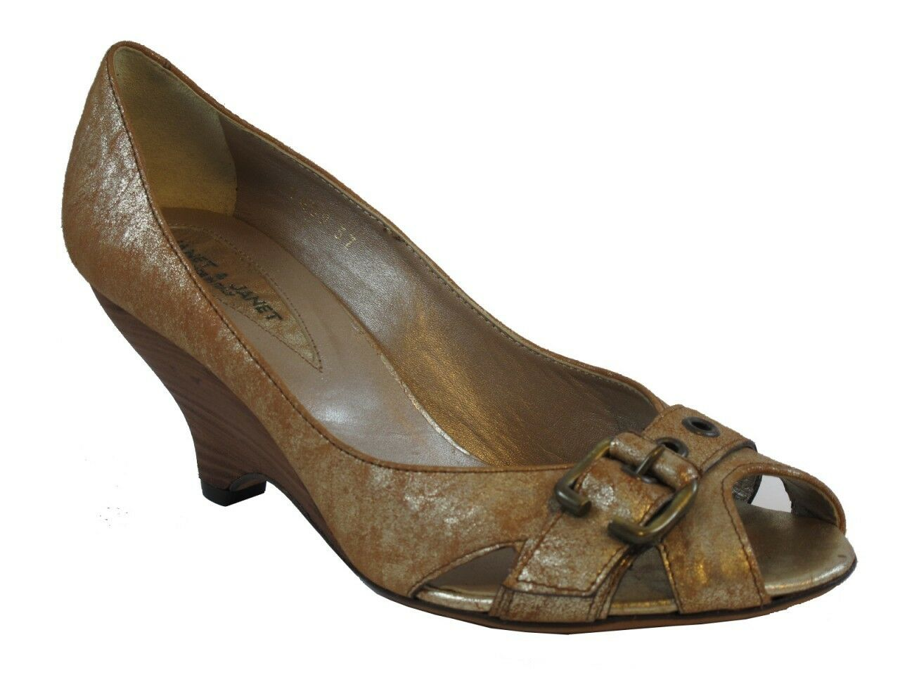 Donna  Italian 7409 7409 7409 Peep Toe Leather scarpe By Janet & Janet a6c80f