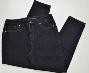 Chico-039-s-So-Slimming-Girlfriend-Ankle-Jeans-Size-1-Women-039-s-8-Dark-Blue-Wash