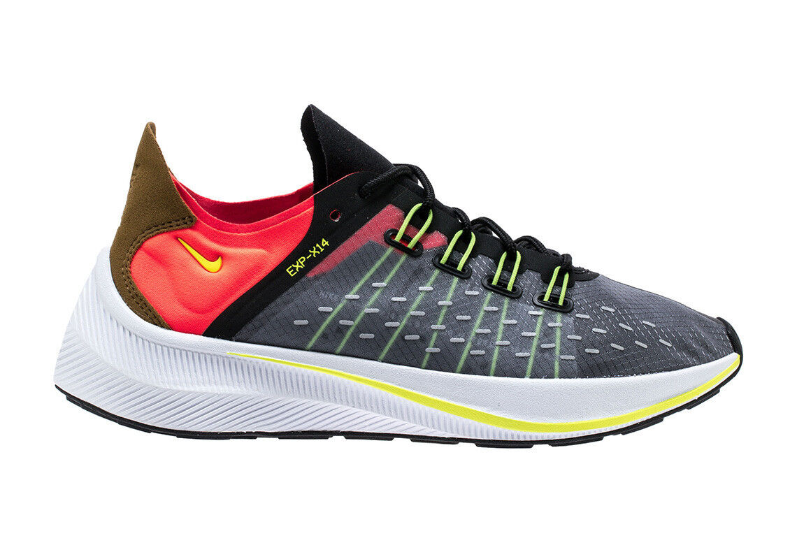 best-selling model of the brand New Nike Men's EXP-X14 Running Shoes Price reduction  Black/Volt-Total Crimson-Grey