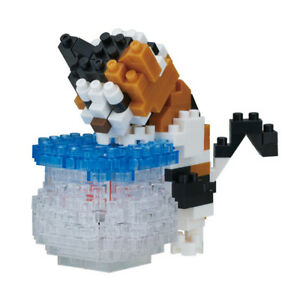 NEW-NANOBLOCK-FISHBOWL-CAT-190-Pieces-Building-Blocks-Nanoblocks-Nano-NBC-272