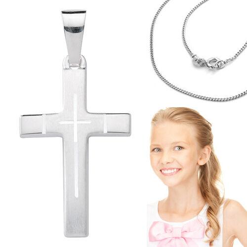 Begeistert Kinder Erst Kommunion Konfirmation Firmung Kreuz Anhänger Silber 925 Mit Kette Das Ganze System StäRken Und StäRken