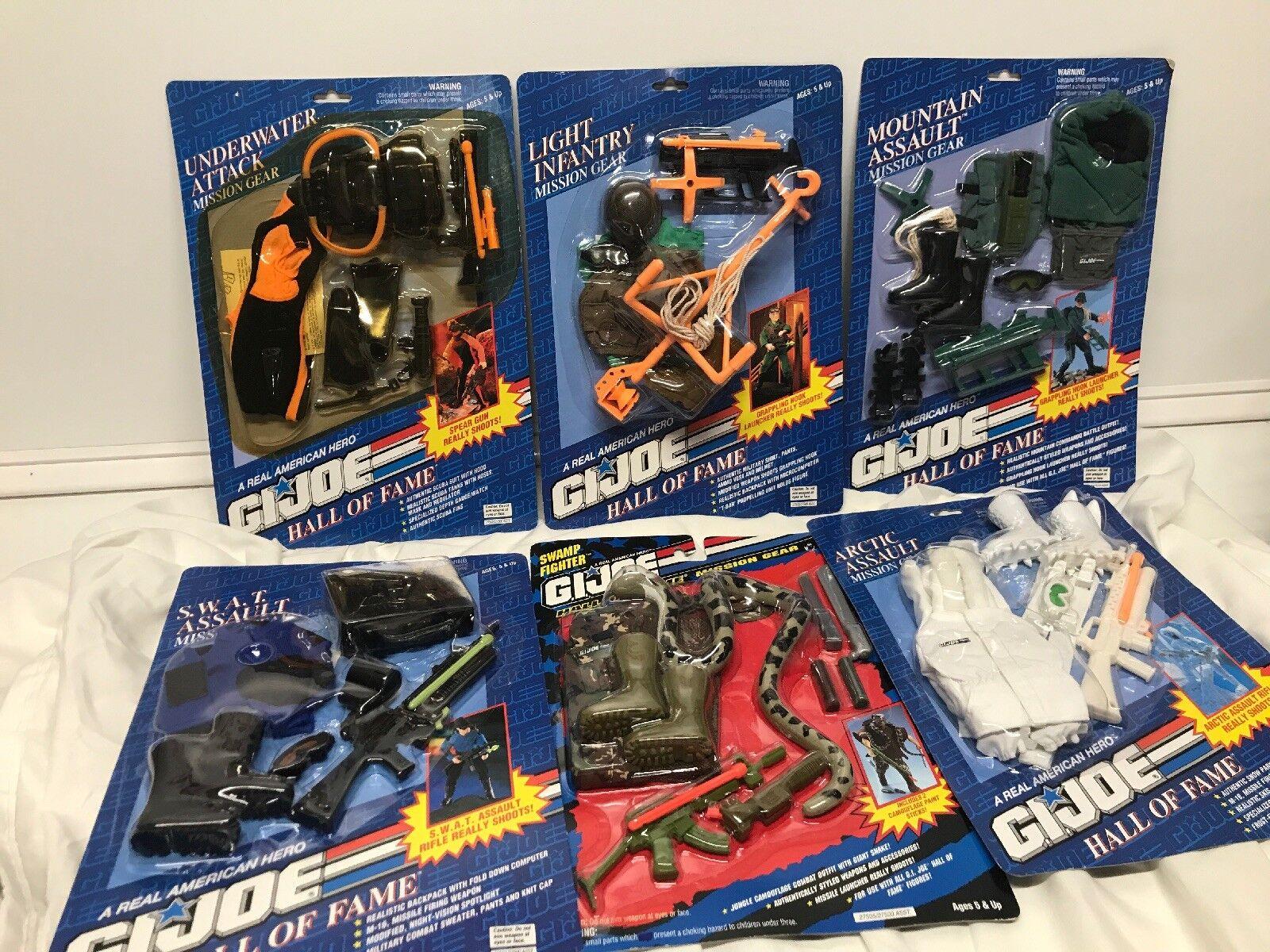 Hasbro HUGE LOT Of 1990s GI JOE 12  Hasbro Hall of Fame 6 Accessories Sealed Lot