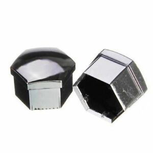 Set-of-20-pcs-19mm-Car-plastic-caps-bolts-covers-nuts-alloy-wheel-chrome-to-P7O0