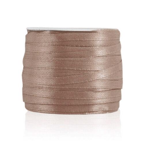 "50 Yards 1//8/""3mm Satin Ribbon Craft Bows Wedding Party Favor DIY Wholesale MGRN1"